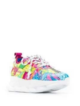 Versace Technicolor Baroque printed sneakers - Yellow