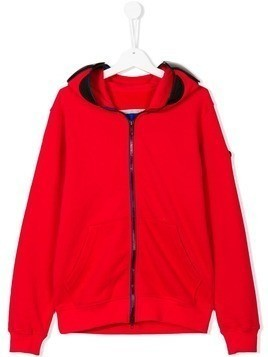 Ai Riders On The Storm Kids zipped hoodie - Red