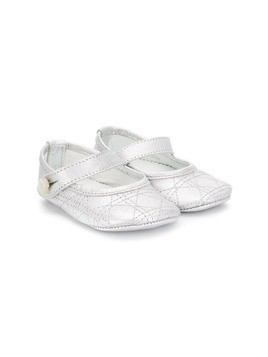 Baby Dior embroidered ballerinas - White