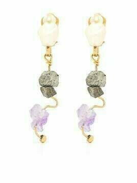 Marni gemstone drop earrings - Gold