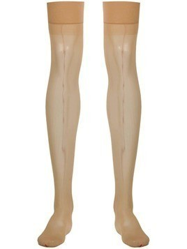 Maison Close back seamed stockings - NEUTRALS