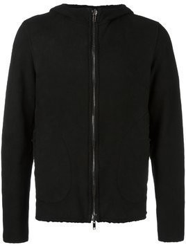 Salvatore Santoro zip up hoodie - Black
