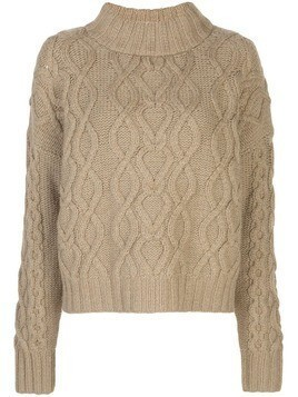 Co cable knit jumper - Green