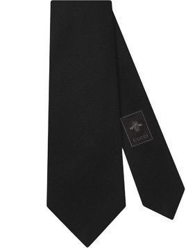 Gucci logo patch tie - Black
