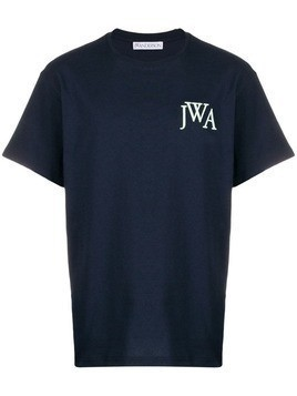 JW Anderson logo embroidered T-shirt - Blue