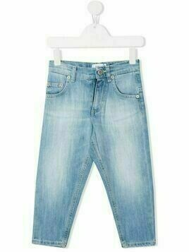 Dondup Kids low-rise straight-leg jeans - Blue