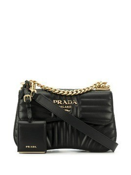Prada Diagramme medium leather bag - Black