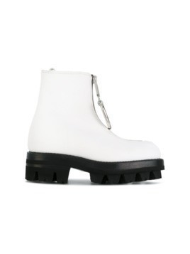 Alyx D-ring zipped boots - White