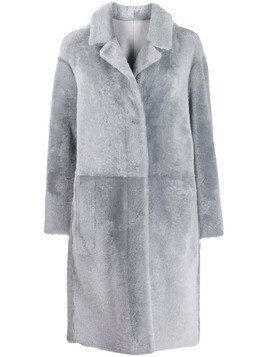Drome panelled longline coat - Grey