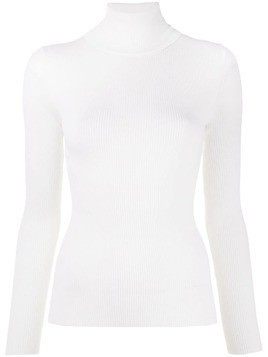 P.A.R.O.S.H. roll-neck knitted top - White