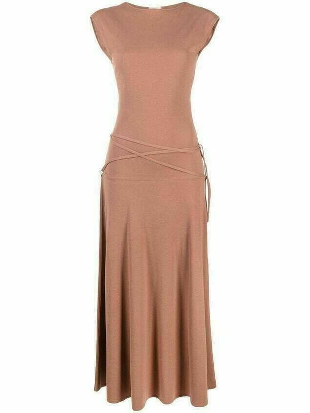 Lemaire sleeveless cotton maxi dress - Brown