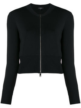 Theory cropped jersey jacket - Black
