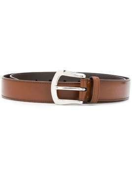 Brunello Cucinelli classic buckle belt - Brown