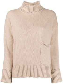 Lamberto Losani funnel neck sweater - Neutrals