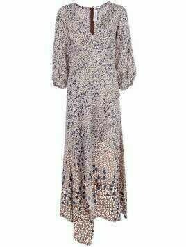 Yigal Azrouel Falling Leaf printed maxi dress - Red