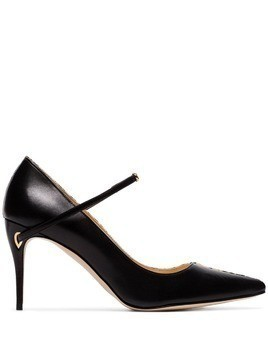 Jennifer Chamandi black Lorenzo 85 two-tone leather pumps