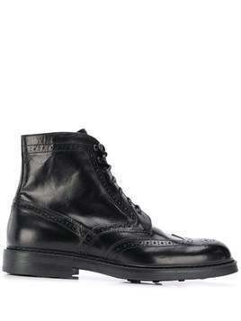 Doucal's lace-up boots - Black