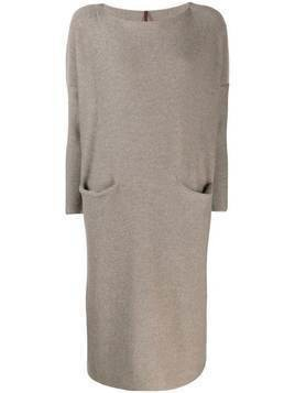 Daniela Gregis oversized knit dress - Brown