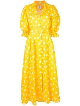 Gül Hürgel floral print long dress - Yellow