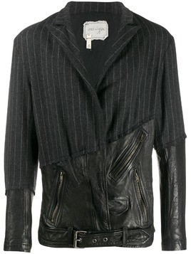 Greg Lauren 50/50 blazer - Black