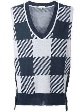 A(Lefrude)E sleeveless sweater - Blue
