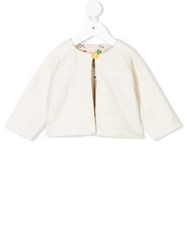 Fendi striped bomber jacket - White