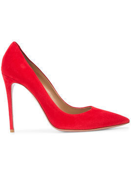 Aquazzura red suede pumps