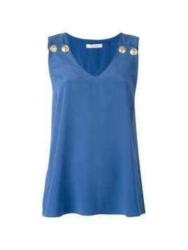 Pierre Balmain v-neck tank top - Blue