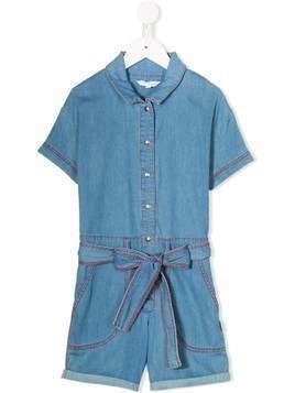 The Marc Jacobs Kids short sleeved belted playsuit - Blue