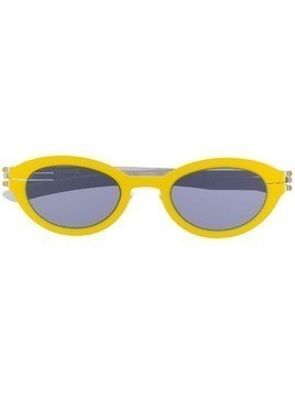 Ic! Berlin oval frame sunglasses - Yellow