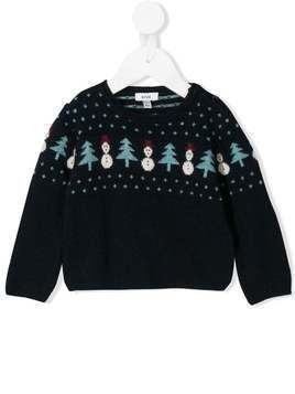 Knot Kevin The Snowman sweater - Blue