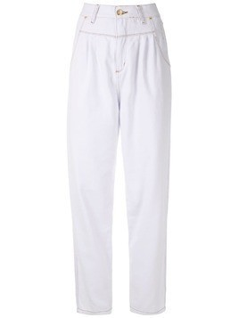 Amapô pleated jeans - White