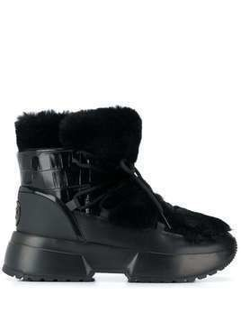Michael Michael Kors faux fur lined ankle boots - Black