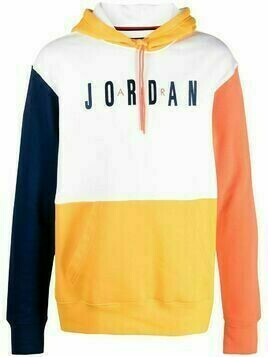 Jordan colour-block embroidered hoodie - Yellow