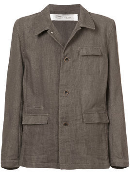Individual Sentiments military style woven jacket - Grey