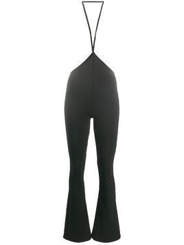 Esteban Cortazar crossed strap flared leggings - Black
