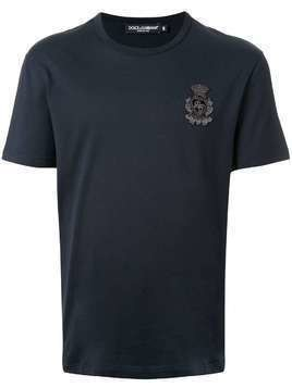 Dolce & Gabbana chest embroidery T-shirt - Black