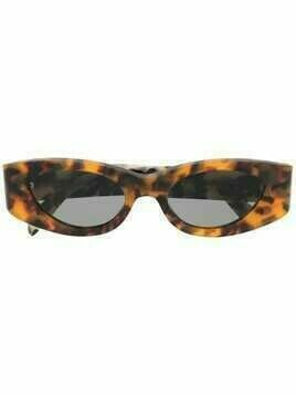 Retrosuperfuture tortoise-effect cat-eye sunglasses - Orange