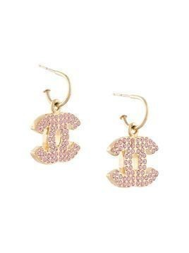 Chanel Pre-Owned 2002 CC shaking earrings - PINK