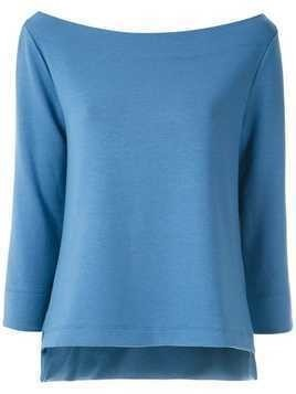 Gloria Coelho boat neck blouse - Blue