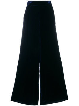 Aviù wide-leg textured trousers - Blue