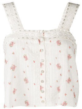 Love Shack Fancy Daisy tank top - White