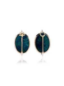 Bibi Van Der Velden 18K rose gold, opal and tsavorite planet earrings - Blue