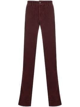 Incotex straight leg corduroy chinos - Red