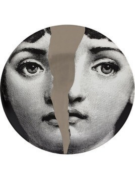 Fornasetti split face T&V wall plate - Grey