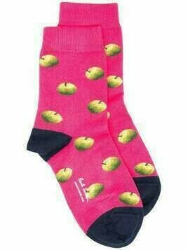 Paul Smith apple embroidered socks - PINK