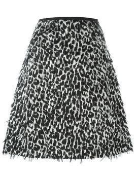 Burberry frayed A-line skirt - Black