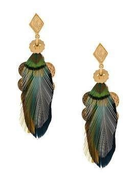 Gas Bijoux Sao feather earrings - Green