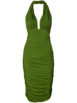 Norma Kamali midi halter dress - Green