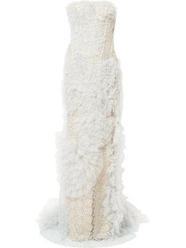 Ermanno Scervino ruffled lace dress - Grey